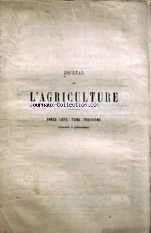 JOURNAL D'AGRICULTURE no:3 01/07/1876