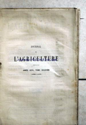 JOURNAL D'AGRICULTURE no:2 01/04/1876