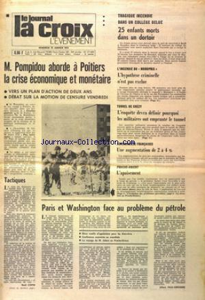 JOURNAL LA CROIX L'EVENEMENT (LE)  no:27685 25/01/1974