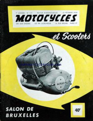 MOTOCYCLES ET SCOOTERS no:117 15/02/1954