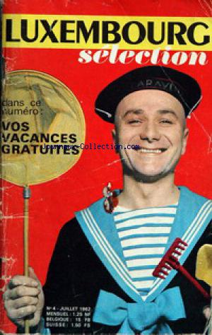 LUXEMBOURG SELECTION no:4 01/07/1962