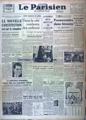 PARISIEN LIBERE EDITION DE PARIS (LE) no:587 04/07/1946
