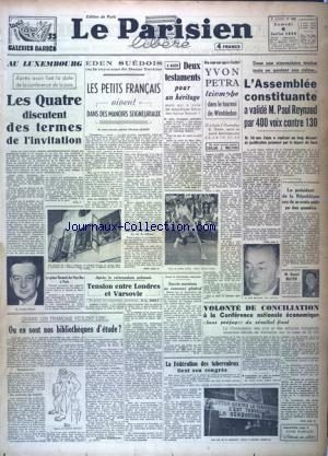 PARISIEN LIBERE EDITION DE PARIS (LE) no:589 06/07/1946