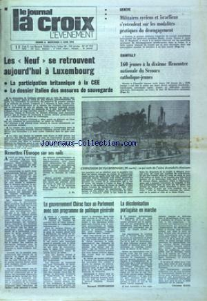 JOURNAL LA CROIX L'EVENEMENT (LE)  no: 04/06/1974