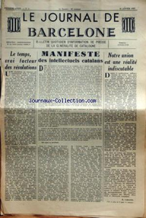 JOURNAL DE BARCELONE (LE) no:6 26/01/1937