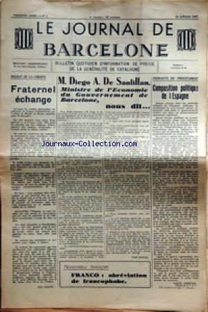 JOURNAL DE BARCELONE (LE) no:3 22/01/1937