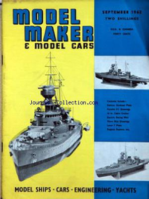 MODEL MAKER AND MODEL CARS no: 01/09/1962