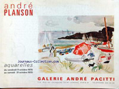 GALERIE ANDRE PACITTI no: 09/10/1970