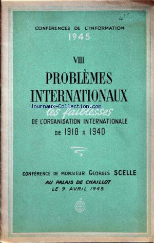 CONFERENCES DE L'INFORMATION no:2 09/04/1945