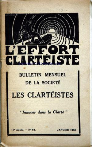 EFFORT CLARTEISTE (L') no:92 01/01/1938