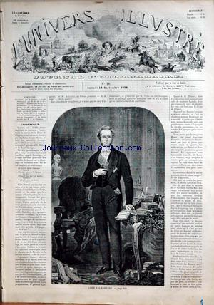 UNIVERS ILLUSTRE (L') no:18 18/09/1858
