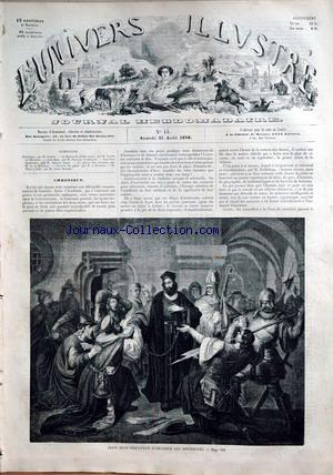 UNIVERS ILLUSTRE (L') no:14 21/08/1858