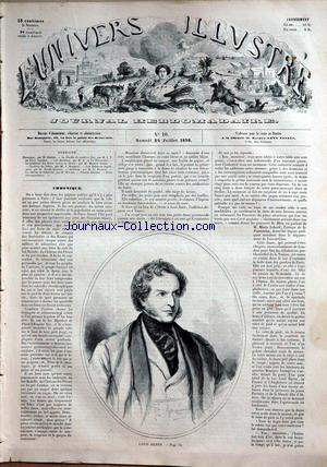 UNIVERS ILLUSTRE (L') no:10 24/07/1858
