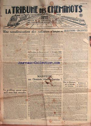 TRIBUNE DES CHEMINOTS (LA) no: 01/12/1944