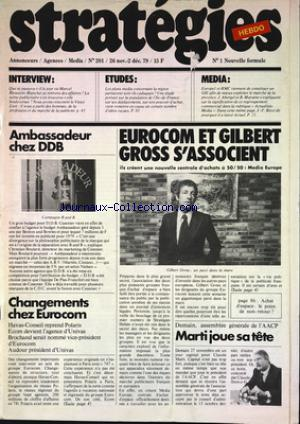 STRATEGIES HEBDO no:201 26/11/1979