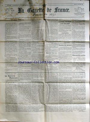 GAZETTE DE FRANCE (LA) no: 09/02/1904