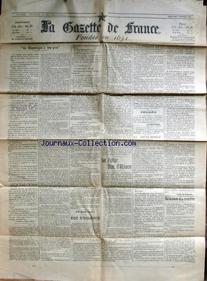 GAZETTE DE FRANCE (LA) no: 07/02/1904