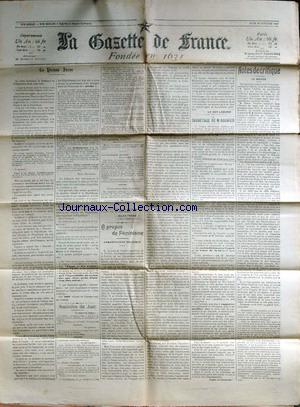 GAZETTE DE FRANCE (LA) no: 29/10/1903
