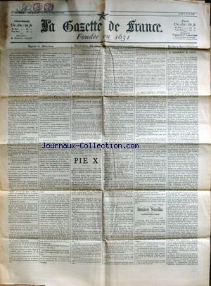 GAZETTE DE FRANCE (LA) no: 06/08/1903