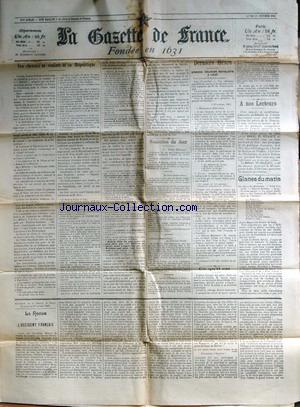 GAZETTE DE FRANCE (LA) no: 28/10/1903