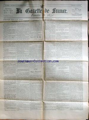 GAZETTE DE FRANCE (LA) no: 22/04/1903