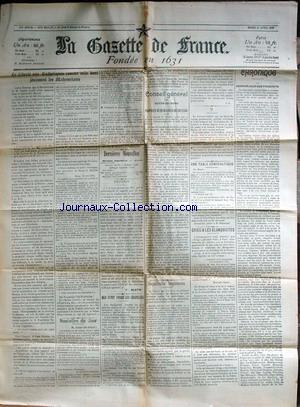 GAZETTE DE FRANCE (LA) no: 21/04/1903