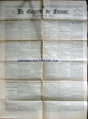 GAZETTE DE FRANCE (LA) no: 20/04/1903