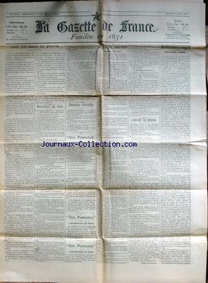GAZETTE DE FRANCE (LA) no: 19/04/1903