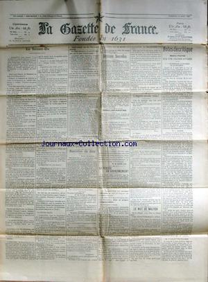 GAZETTE DE FRANCE (LA) no: 10/04/1903