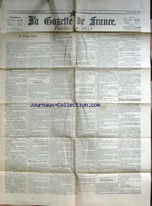 GAZETTE DE FRANCE (LA) no: 09/04/1903