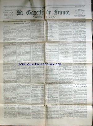 GAZETTE DE FRANCE (LA) no: 08/04/1903