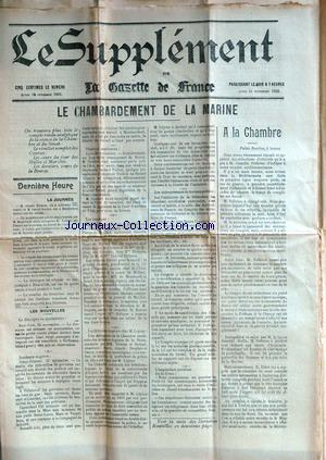 SUPPLEMENT DE LA GAZETTE DE FRANCE (LE) no: 24/11/1902