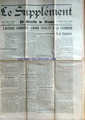 SUPPLEMENT DE LA GAZETTE DE FRANCE (LE) no: 07/12/1902