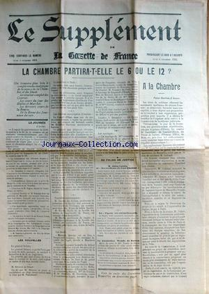 SUPPLEMENT DE LA GAZETTE DE FRANCE (LE) no: 04/12/1902
