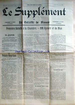 SUPPLEMENT DE LA GAZETTE DE FRANCE (LE) no: 15/10/1902