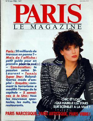PARIS LE MAGAZINE no:8 01/06/1986