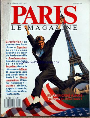 PARIS LE MAGAZINE no:16 01/02/1987