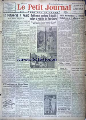PETIT JOURNAL EDITION DE PARIS (LE)) no:21717 02/07/1922