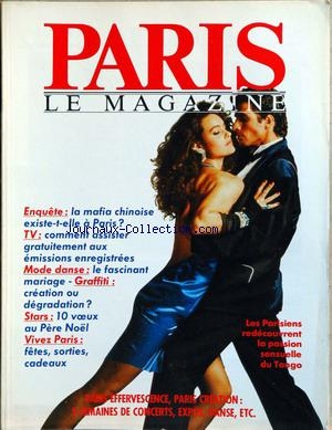 PARIS LE MAGAZINE no:3 01/01/1986