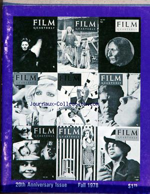 FILM QUARTERLY no:1 01/12/1978