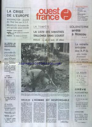 OUEST FRANCE MANCHE NORD no: 13/02/1974