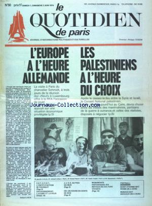 QUOTIDIEN DE PARIS (LE) no:50 01/06/1974