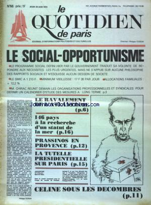 QUOTIDIEN DE PARIS (LE) no:66 20/06/1974