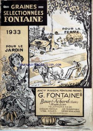 GRAINES SELECTIONEES FONTAINE no: 01/01/1933