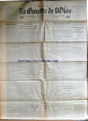 GAZETTE DE L'OISE (LA) no:94 23/11/1938