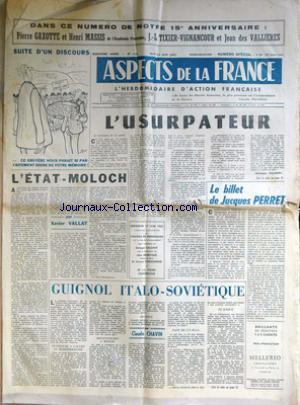 ASPECTS DE LA FRANCE no:716 14/06/1962