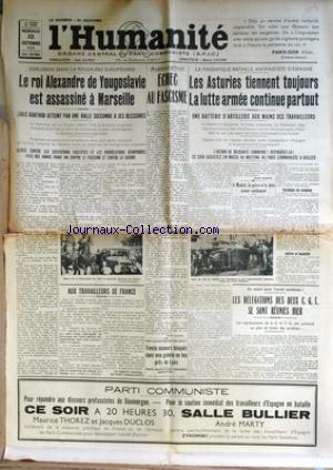 HUMANITE (L') no: 10/10/1934