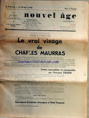 NOUVEL AGE no:715 17/03/1940