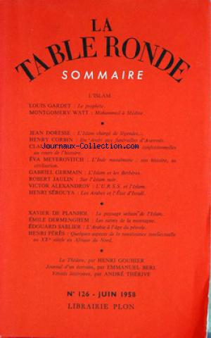 TABLE RONDE (LA) no:126 01/06/1958