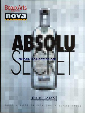 BEAUX ARTS MAGAZINENOVA MAGAZINE no: 19/06/2001